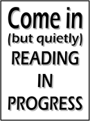 Reading in Progress Sign (black)